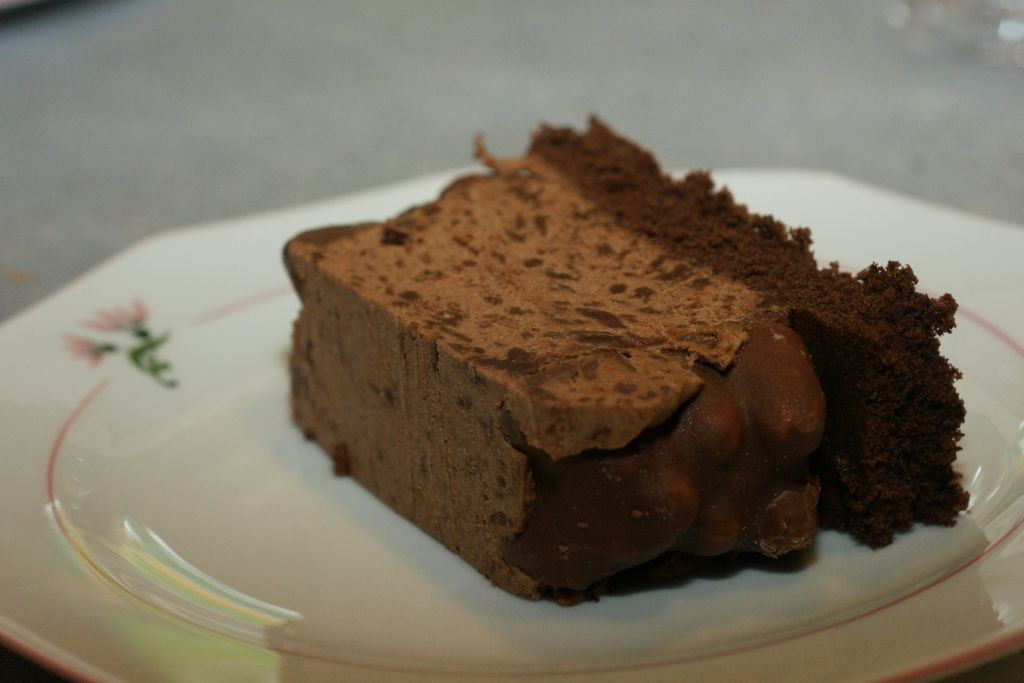 Bûche mousse chocolat ourson guimauve 3