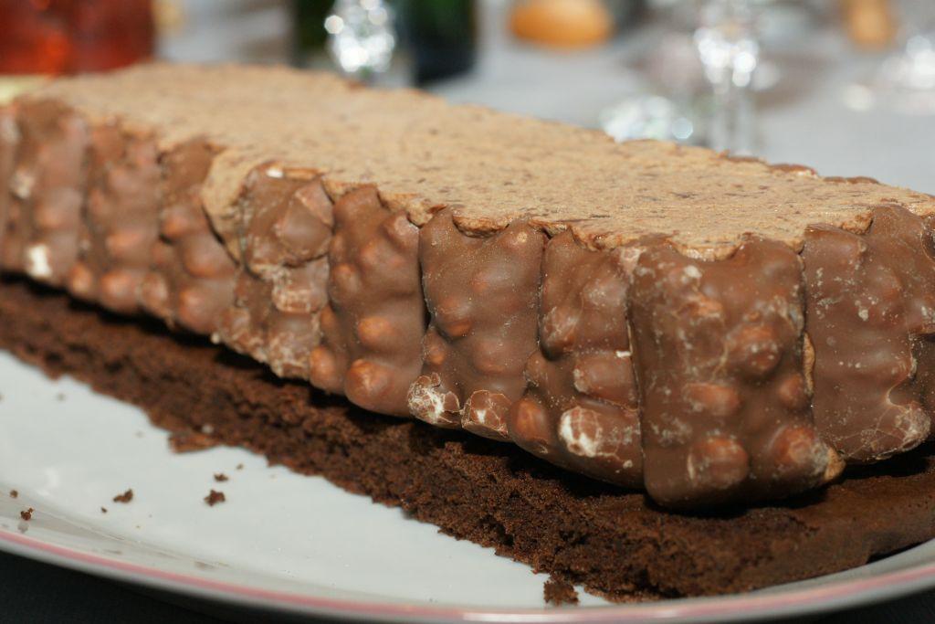 Bûche mousse chocolat ourson guimauve 4