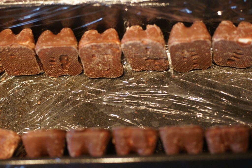 Bûche mousse chocolat ourson guimauve