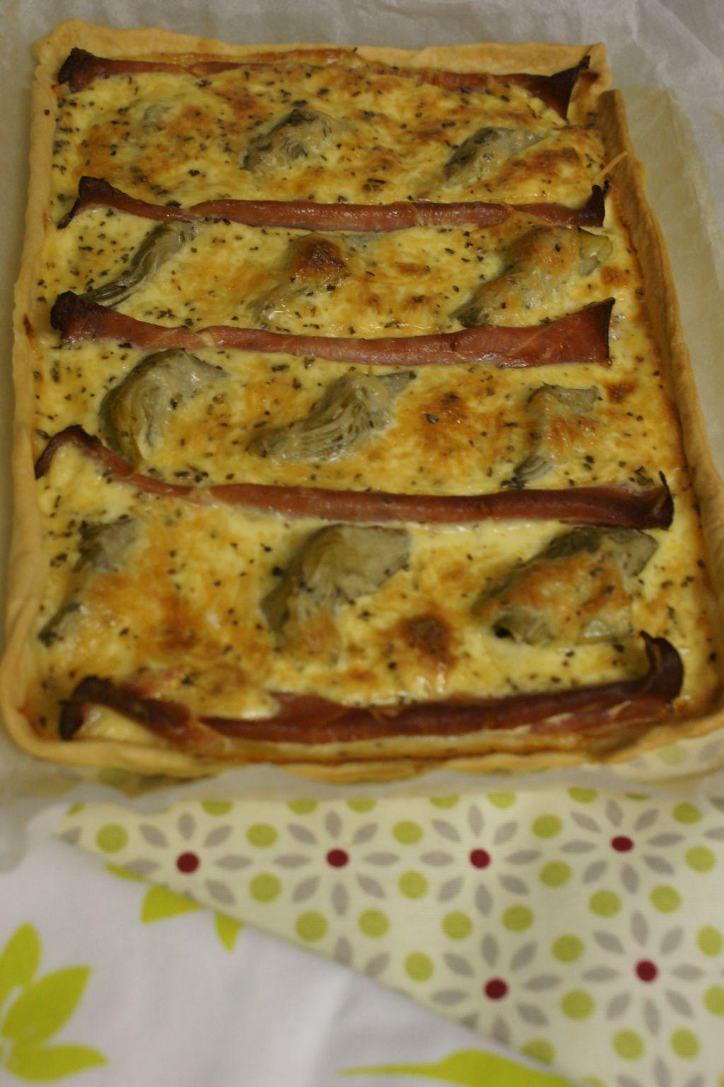 Tarte artichauts jambon cru 3