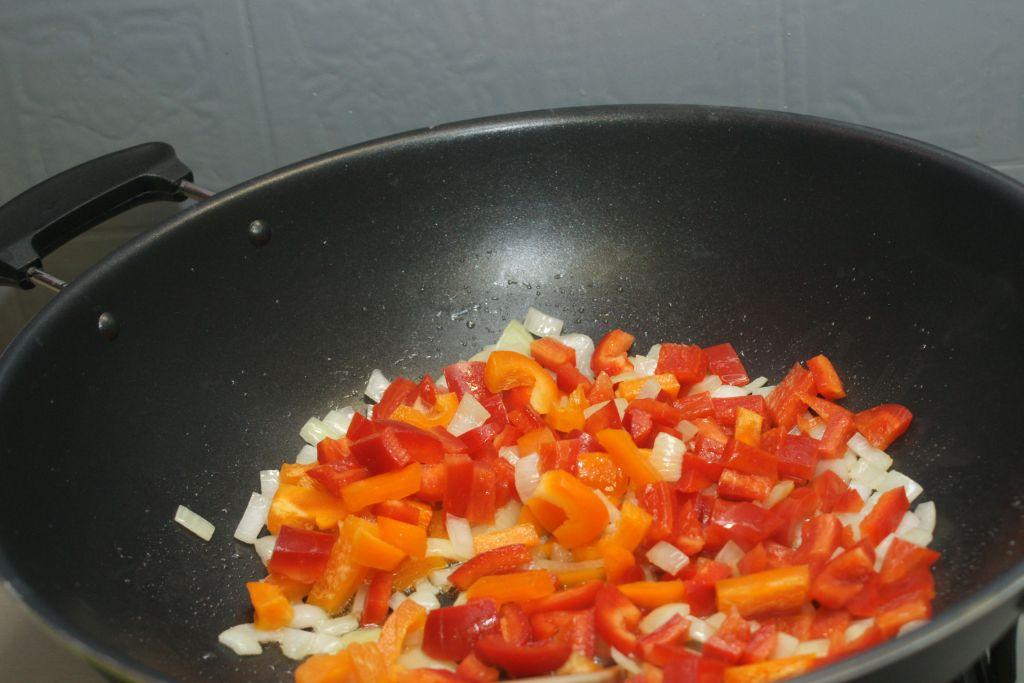 Nouilles sautées poivrons poulet 2